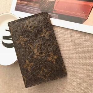 Auth Louis Vuitton Monogram Cartes Visite CardCase